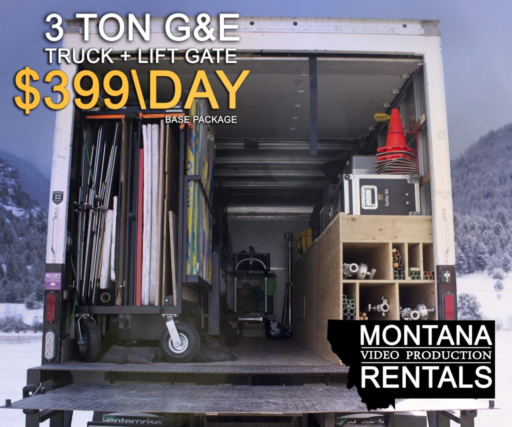 Montana Video Production Rentals 3 Ton Grip and Electric